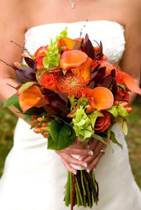 Buchete de mireasa din cale si alte flori