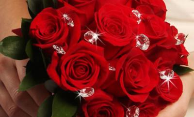 Buchete de mireasa din trandafiri