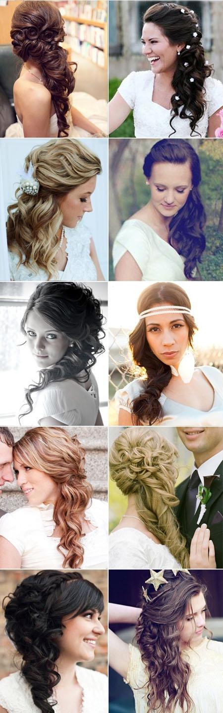 Coafuri de nunta par lung