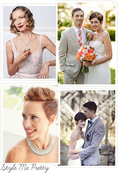 Coafuri de nunta par scurt