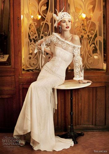 Rochie de mireasa anii 50 vintage