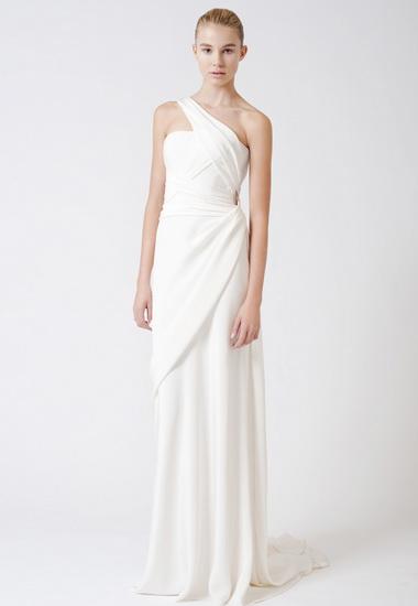 Rochie de mireasa simpla stil grecesc