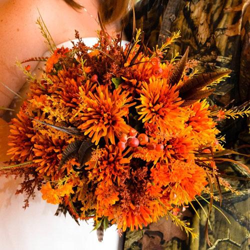 buchet de mireasa cu flori de toamna