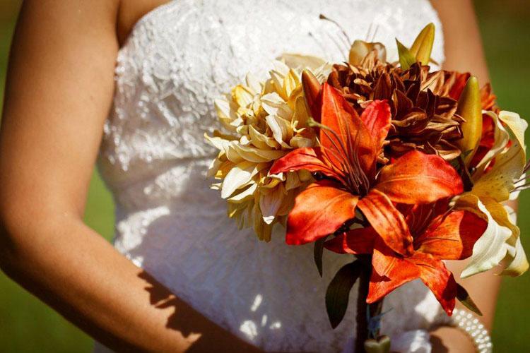 buchet de nunta cu flori de toamna