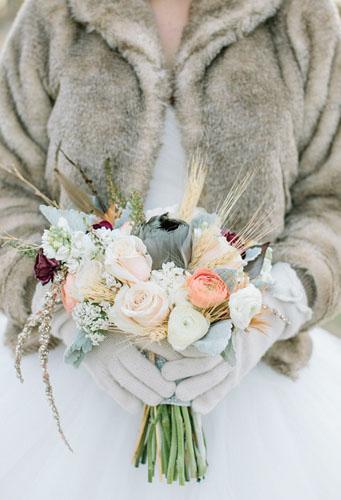 buchet pentru nunta facuta iarna