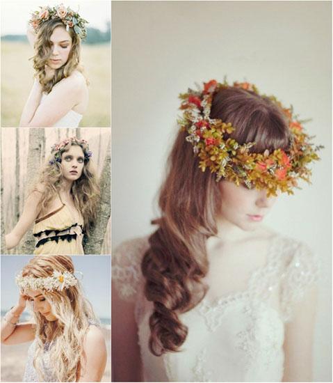 coroane din flori naturale pentru mirese