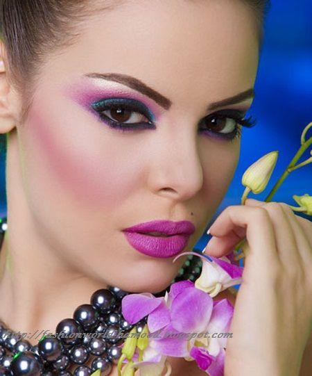 makeup mireasa cu mov