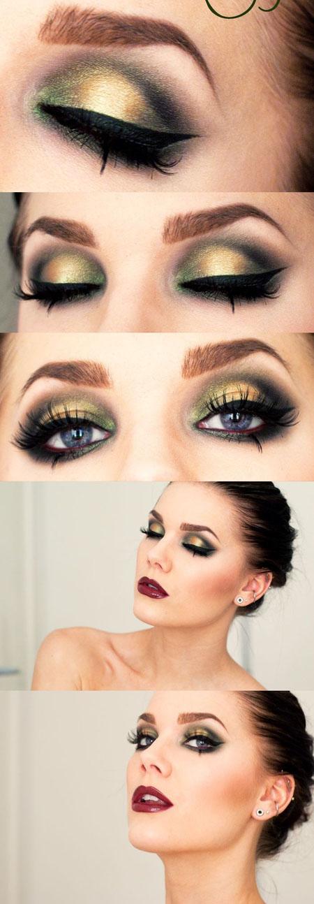 makeup nunta ochi verzi