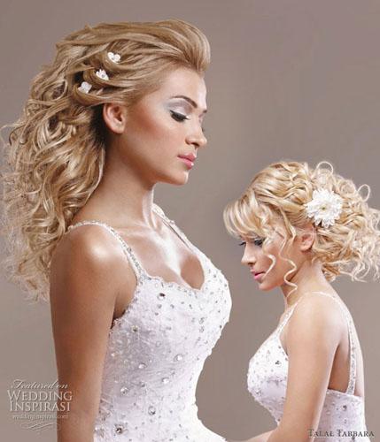 modele de aranjare a parului cret pentru nunta