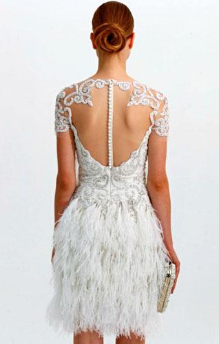 rochie de mireasa scurta cu spatele gol