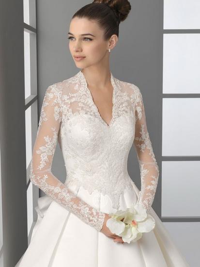 rochie mireasa cu maneca 2014