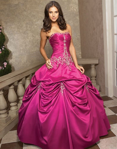rochie mireasa roz