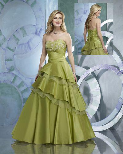 rochie mireasa verde
