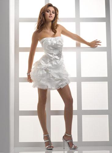 rochie scurta pentru mirese