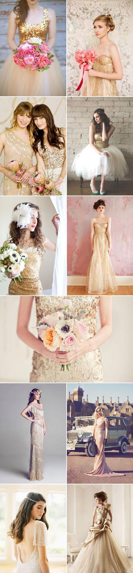 rochii mireasa aurii