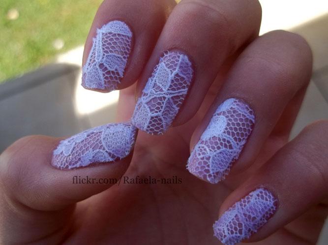 unghii cu dantela pentru mirese