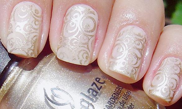 unghii cu dantela pentru nunta