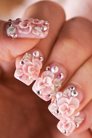 unghii cu gel 3D pentru mirese