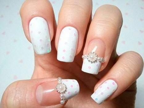 unghii gel clasice pentru nunta