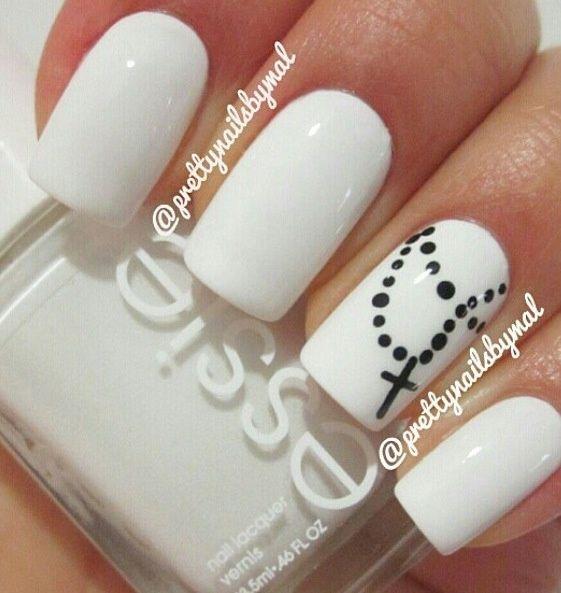unghii simple albe