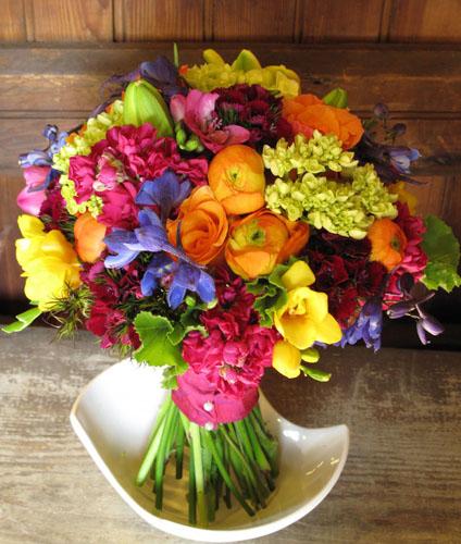 Buchet de mireasa din flori exotice