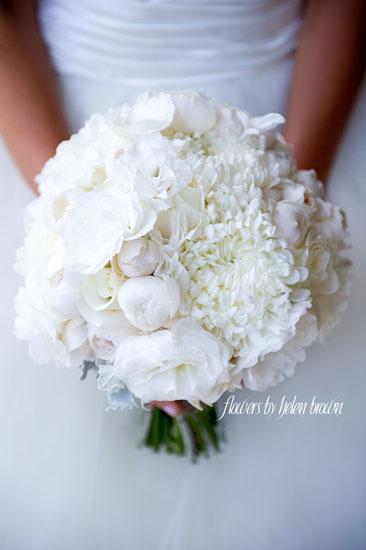 Buchet mireasa crizanteme albe