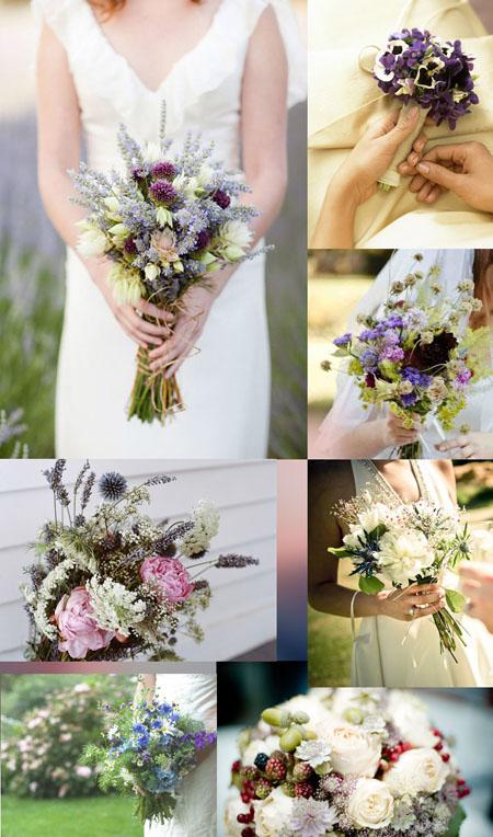 Buchet mireasa ieftin cu flori de gradina