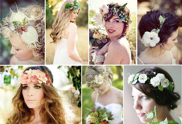 Coronite mireasa din flori naturale