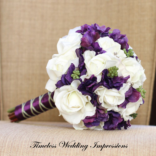 buchet de nunta cu hortensii
