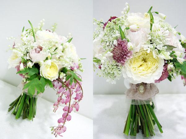 buchet din lacramioare si alte flori pentru nunta