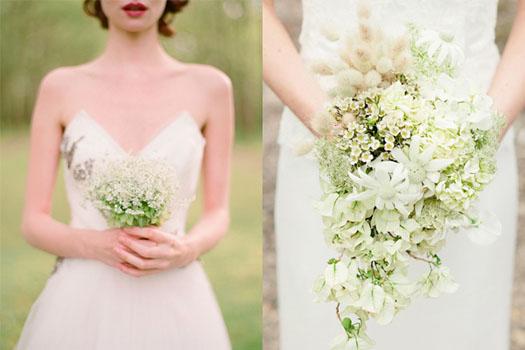 buchetul miresei din flori albe de primavara