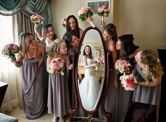 fotografie de nunta mireasa si domnisoare de onoare