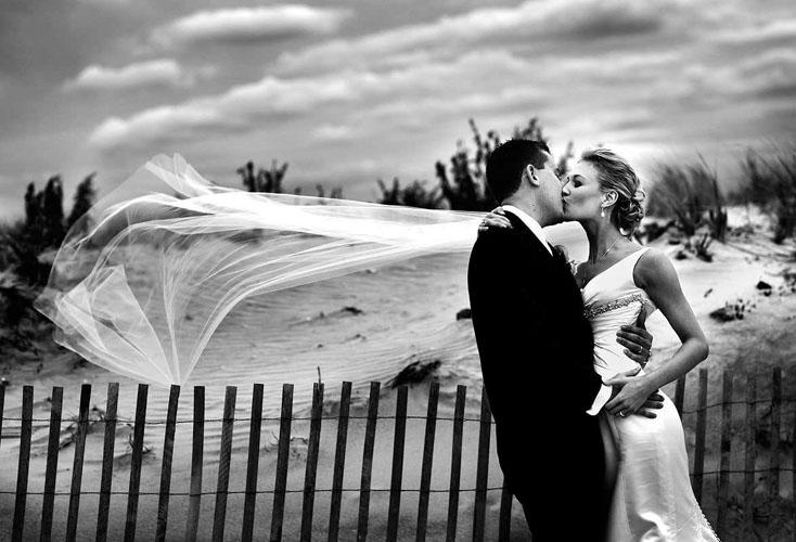 poza de nunta alb negru