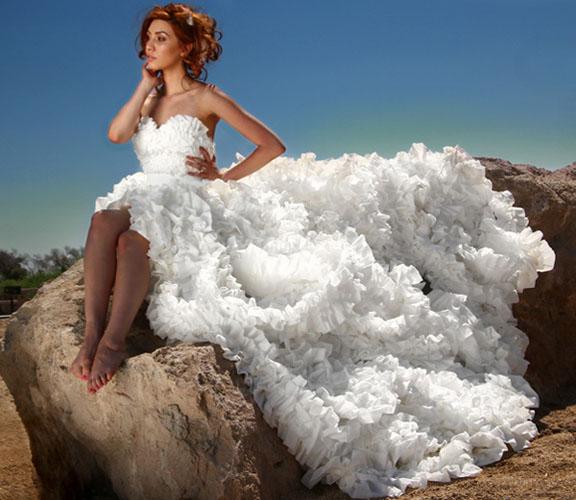 rochie de mireasa din hartie igienica