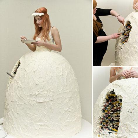 rochie de mireasa din tort
