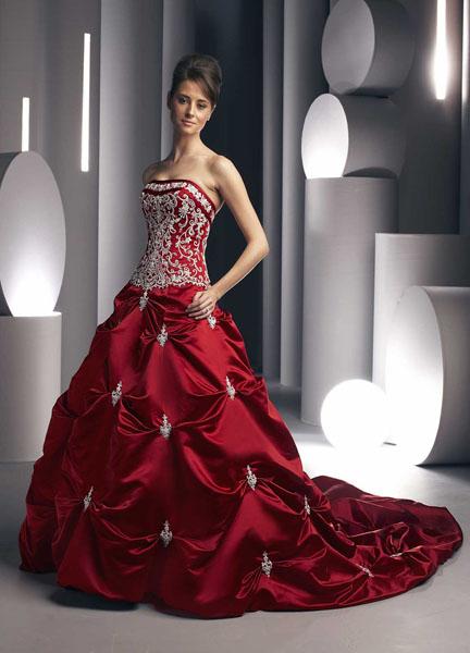 rochie de mireasa grena