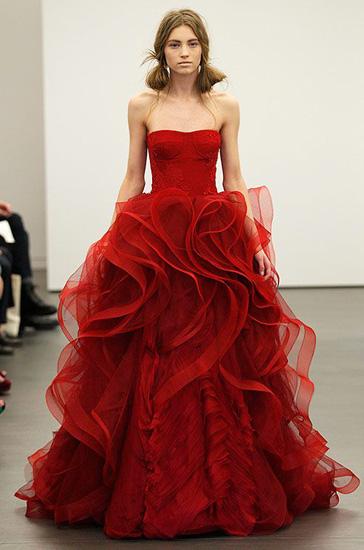 rochie de mireasa rosie Vera Wang