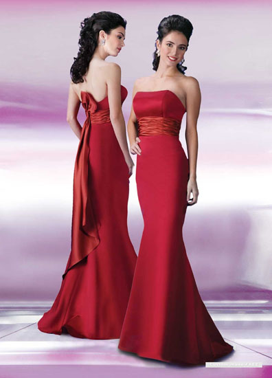 rochie de mireasa rosie simpla