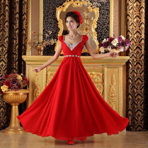 rochie mireasa rosie