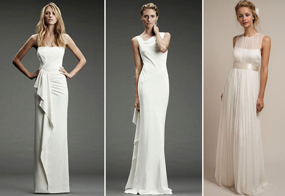 rochii mireasa clasice drepte