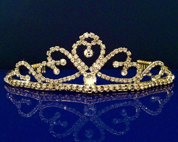 tiara mireasa din aur