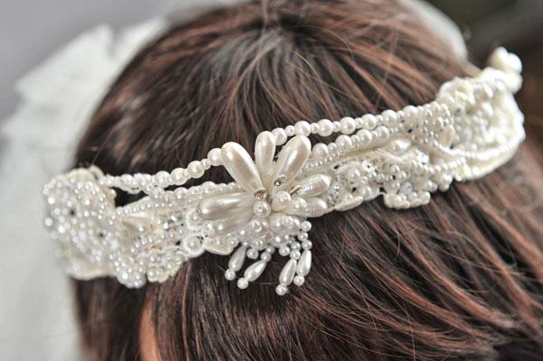 tiara mireasa din perle