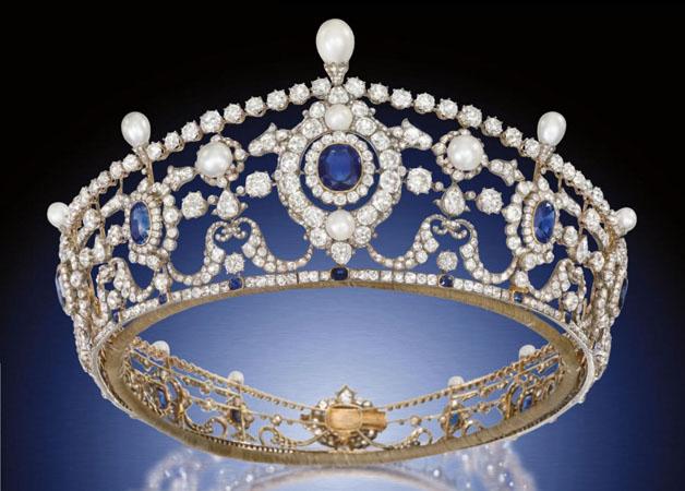 tiara mireasa tip coroana cu pietre
