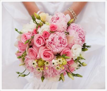 trandafiri roz buchet mireasa
