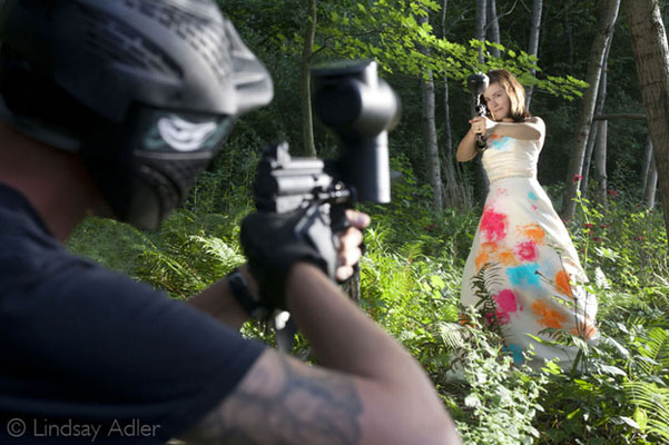 trash the dress paintball