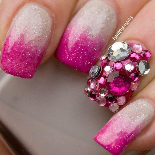 unghii cu diamante