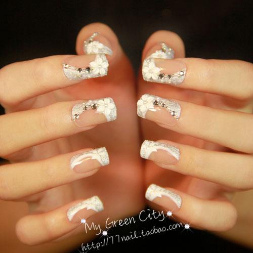unghii cu gel french pentru mirese