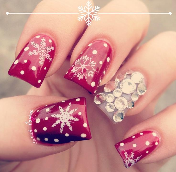 unghii cu model de iarna