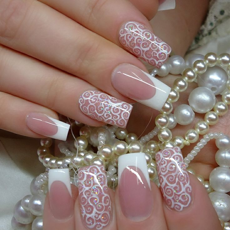 Nails With Bow Aveti Nevoie Lac Unghii Alb Unul Roz On Pinterest