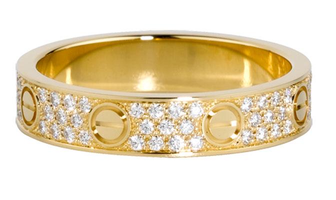 verigheta Cartier aur galben
